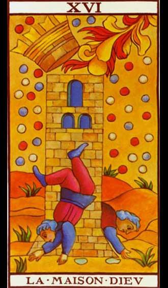 Krystel Voyance - The Tower - Major Arcana - Tarot of Marseille